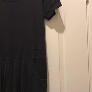 Plain black casual dress